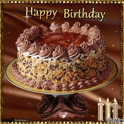 Birthday Happy Sparkle Cake Animated Chocolate Wishes