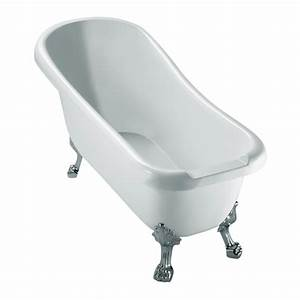 Baignoire Avec Pied : baignoire retro avec ses pieds pattes de lion chrome lg ~ Edinachiropracticcenter.com Idées de Décoration