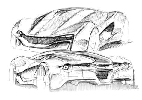 ferrari sketch view car sketch view sketch coloring page