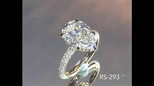 Antique Gold Ring Design 4 Carat Pear Shape Diamond Engagement Ring Youtube