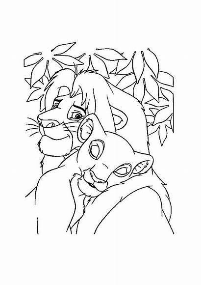 Nala Simba Leeuwenkoning Verliefd Kleurplaat Zijn Kleurplaten