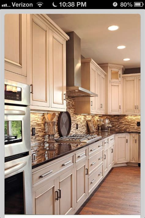 dark kitchen cabinets with light countertops texas french toast bake recipe stone backsplash stove