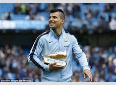Manchester City's Sergio Aguero picks up Premier League