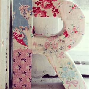 best 25 fabric covered letters ideas on pinterest With how to cover cardboard letters with fabric