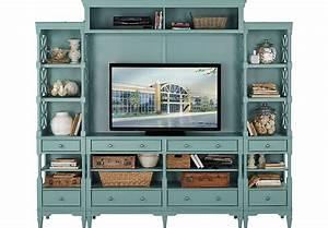 Cindy Crawford Home Seaside Blue Green 5 Pc Wall Unit