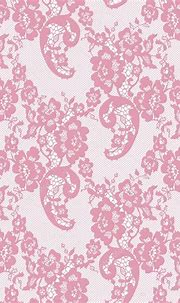 Seamless Vector Pink Lace Pattern — Stock Vector ...