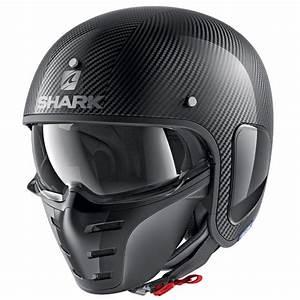 Casque De Moto : shark casque jet moto scooter s drak carbon skin dsk noir brillant silverstone motor ~ Medecine-chirurgie-esthetiques.com Avis de Voitures