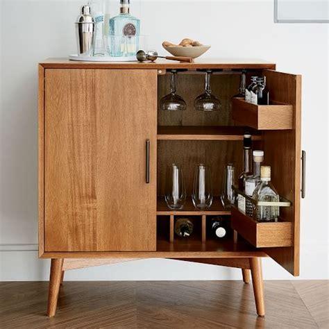 west elm flat bar storage desk mid century bar cabinet small west elm