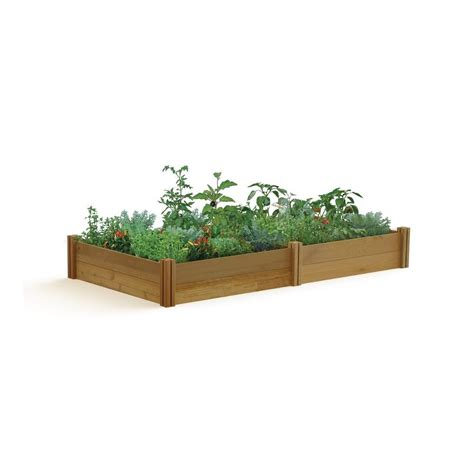 gronomics raised garden bed gronomics 48 in x 95 in x 13 in modular raised garden