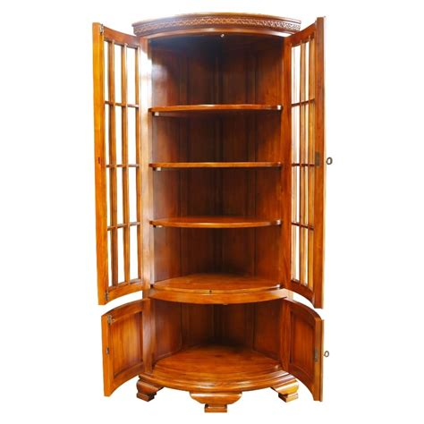 Corner Display Cabinet by Bow Fronted Corner Display Cabinet Mahogany Akd Furniture