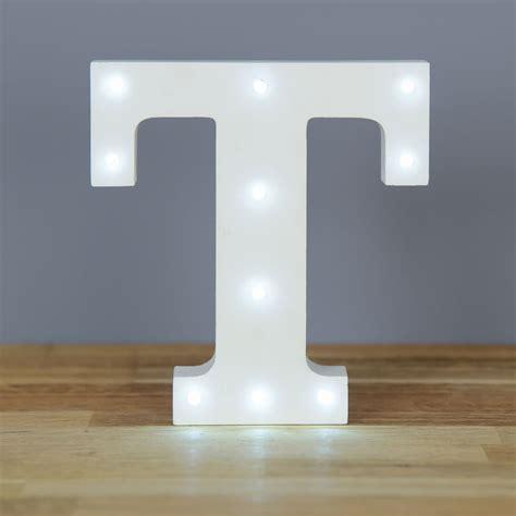 light up letter t home decor barbours