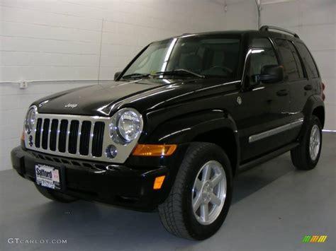 black jeep liberty 2007 black clearcoat jeep liberty limited 4x4 19371206