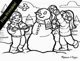 Coloring Winter Printable Pages Scenes Wonderland Scene Sheets Printables Sad Playing Snow Clipart Drawing Snowman Colouring Snowy Christmas Themed Adult sketch template