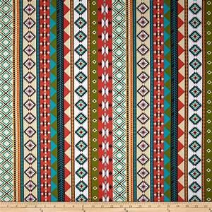 Moda Native Sun Serape Stripes Cactus - Discount Designer