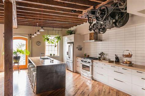 cuisine type industrielle cuisine style industriel comment l 39 adopter pour créer une