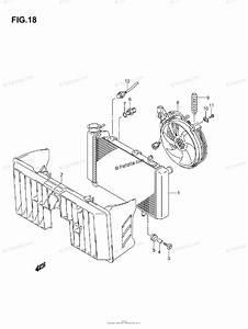 Suzuki Atv 2003 Oem Parts Diagram For Radiator