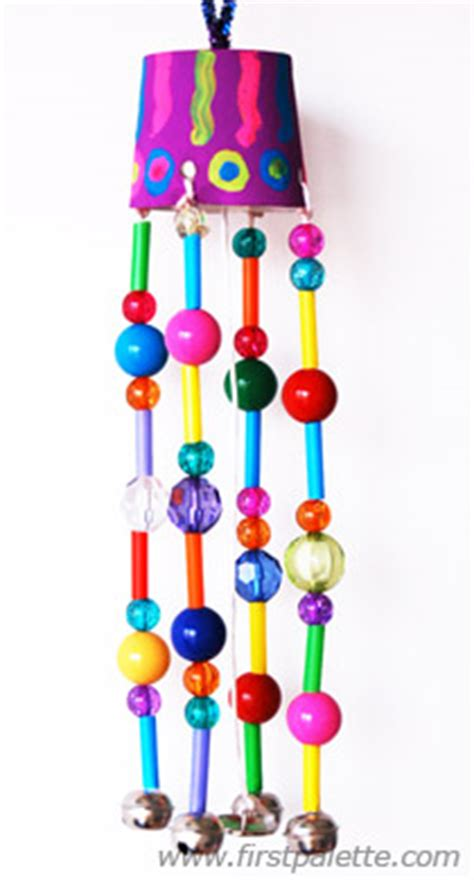 wind chime crafts for preschoolers beaded wind chimes craft crafts firstpalette 252