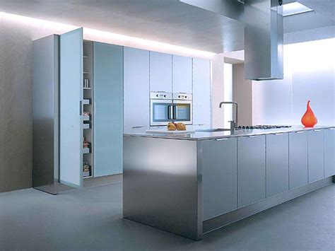 stylish aluminium stainless steel kitchen designs