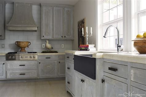distressed gray cabinets distressed kitchen cabinets cottage kitchen janie
