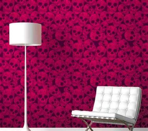 beautiful bone inspired walls skull wallpaper