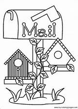 Coloring Pages Birdhouse Bird Houses Books Country Birdhouses Drawing Line Colouring Making Printables Uploaded User sketch template