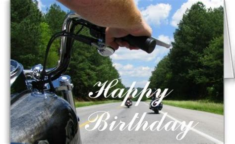 Motorcycle Ride Happy Birthday Card
