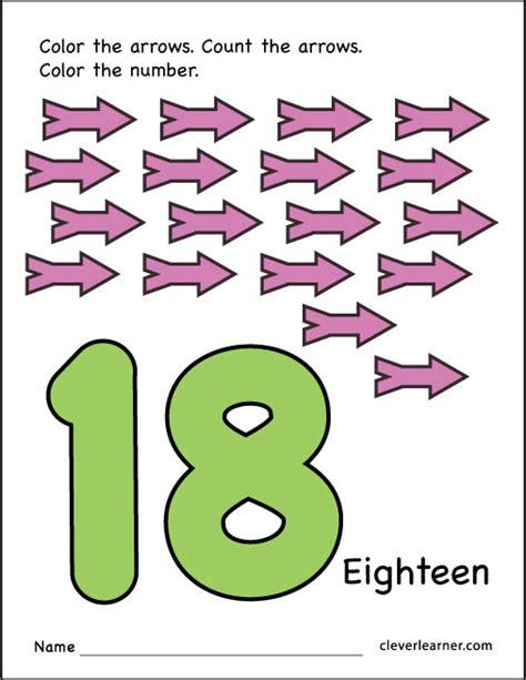 Number 18 Counting Worksheets Preschool. Number. Best Free ...