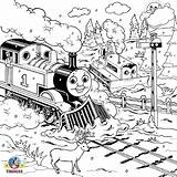 Coloring Engine Pages Steam Thomas Train Tank Colouring Printable Track Drawing Railway James Practice Clip Percy Library Piece Clipart Skills sketch template
