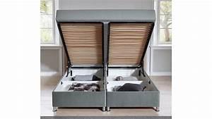 Polsterbett 180x200 Grau : box komfortbett diamond polsterbett stoff grau bettkasten 180x200 cm ~ Indierocktalk.com Haus und Dekorationen