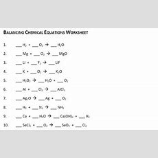 {free} Balancing Chemical Equation Worksheet By Ms Joelle Tpt