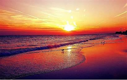 Sunset Beach Wallpapers Desktop Cool Background Nc