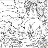Anteater Coloring Dot Printable Dots Puzzle Categories sketch template