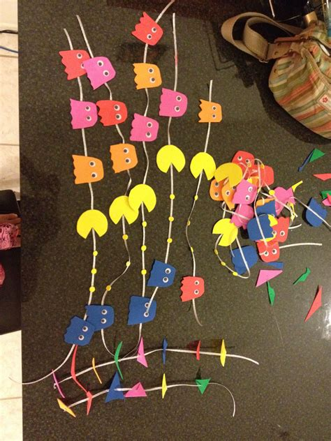 pacman decoration party  party party pinterest