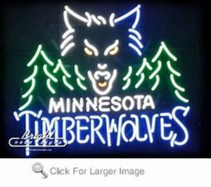 Minnesota Timberwolves Neon Sign only $299 99 Neon NBA Signs