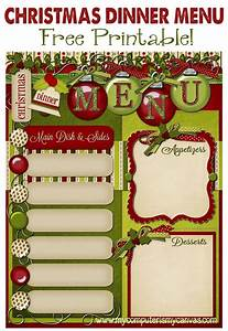 10 Best Photos of Printiable Holiday Menu - Free Printable ...