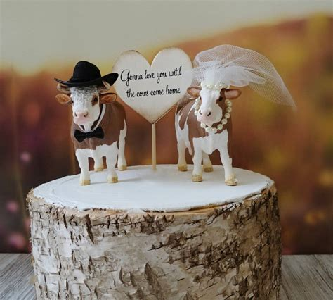 vache agriculteur grange wedding cake topper animal ferme