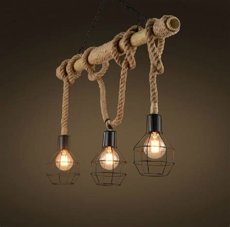 edison loft style bamboo rope droplight industrial vintage