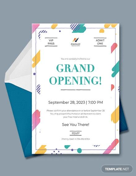 vip invitation card template word  psd indesign