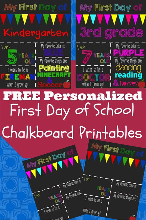 a happy frugal free printable 1st day of school signs 961 | grade1