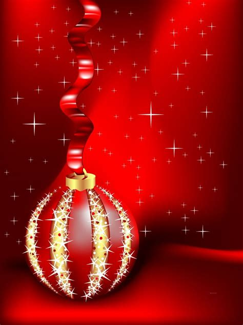 red christmas ornament background vector art graphics