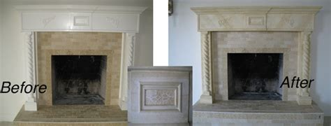 master bedroom fireplace mantel travertine faux finish
