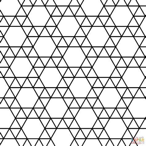 Dibujo De Teselado Con Tringulos Y Hexgonos Para