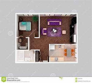conception a la maison du plan d39etage d39appartement 3d With conception de maison 3d