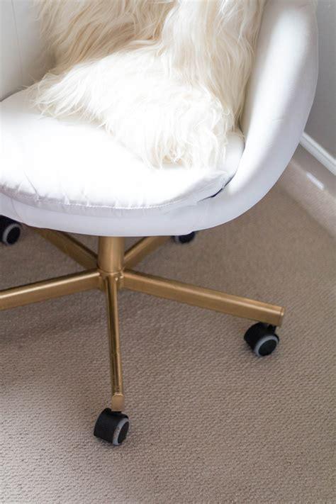 sheepskin chair diy ikea hack gold office chair tenise