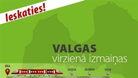 18., 19., 22. un 25. jūnijā izmaiņas Valmieras virziena ...