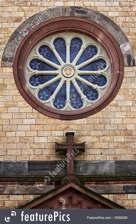 architectural details  church window stock image