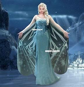 Etsy Size Chart J737 Movies Frozen Snow Queen Elsa Cosplay Costume Deluxe