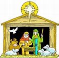 Nativity picture of baby jesus in a manger clipart image ...