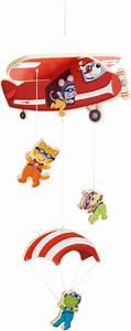 Mobile Baby Haba : haba mobile parachuters buy at kidsroom toys baby toys ~ Watch28wear.com Haus und Dekorationen