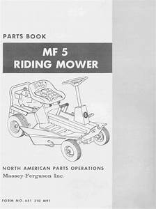 Massey Ferguson Mf5 Lawn Garden Tractor Parts Manual